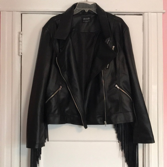 the sale of shoes hot-selling authentic online store Plus Size Leather Fringe Jacket
